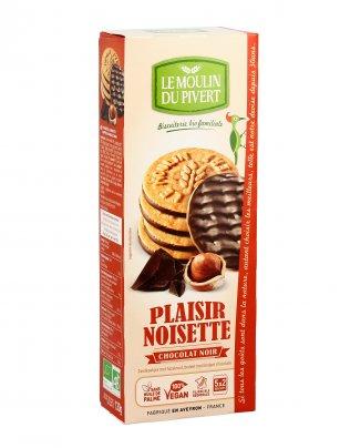 Biscotti alle Nocciole Ricoperti con Cioccolato Fondente - Plaisir Noisette