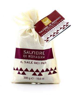 Salfiore di Romagna - Sale Dolce di Cervia con Sacchetto di Cotone 300 gr.