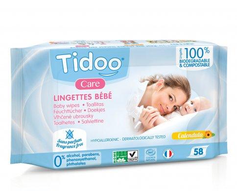 Salviette Baby Compostabili con Caledula Bio - Senza Profumo
