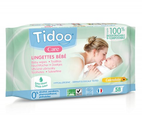 Salviette Baby Compostabili con Caledula Bio