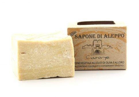 Sapone Vegetale Grezzo di Aleppo con Olio di Oliva e Alloro al 16%