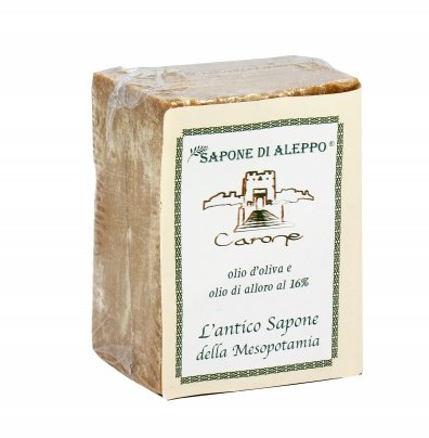 Sapone di Aleppo con Olio d'Oliva e Alloro al 16%