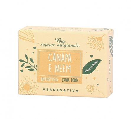 Sapone Antisettico Extra Forte Canapa e Neem