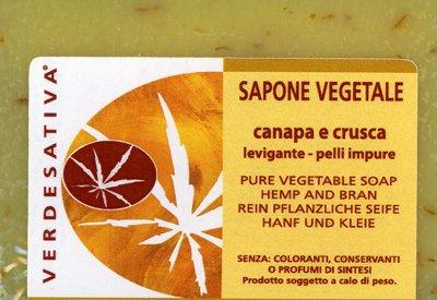 Sapone Vegetale Canapa e Crusca