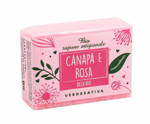 Sapone Vegetale Canapa e Rosa