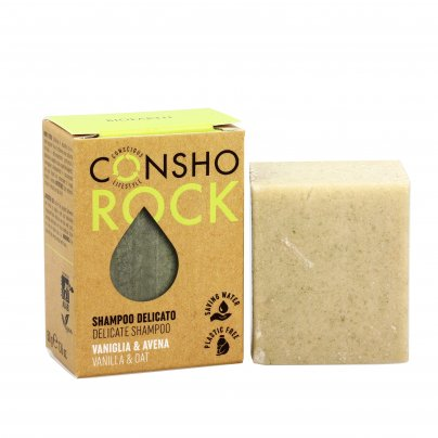 Shampoo Solido Delicato Vaniglia e Avena - Consho Rock