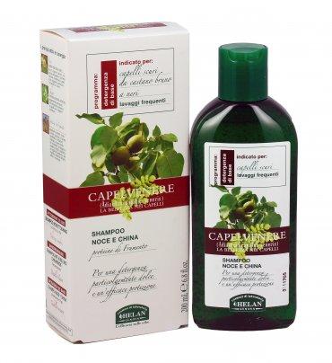 Shampoo Capelli Scuri con Noce e China - Capelvenere