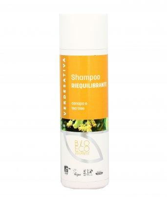Shampoo Riequilibrante con Canapa e Tea Tree