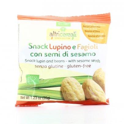 Snack Lupino e Fagioli con Semi di Sesamo