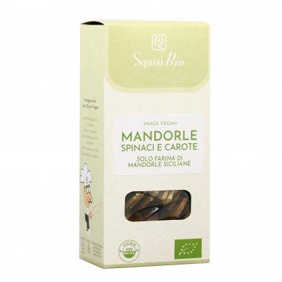 Snack Vegan con Mandorle, Spinaci e Carote