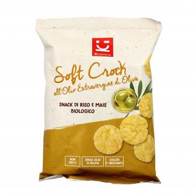 """Snack di Riso e Mais Bio all'Olio Extravergine di Oliva """"Soft Crock"""""""