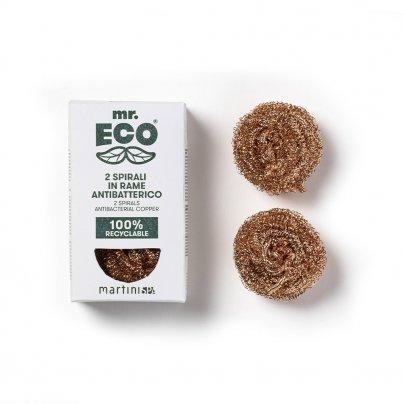 2 Spugne Spirali in Rame Antibatterico - Mr. Eco