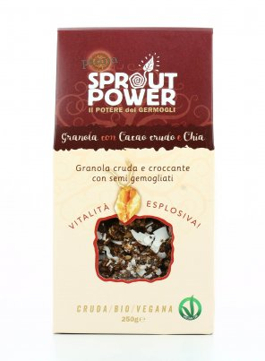 Granola con Cacao Crudo e Chia - Sprout Power