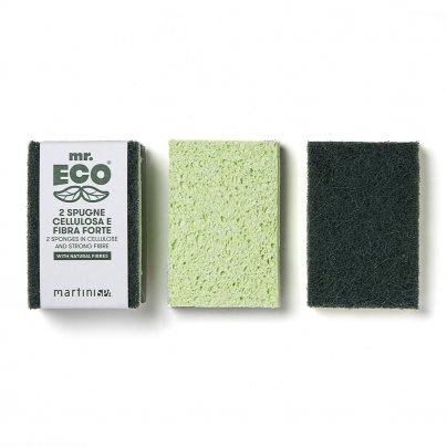 2 Spugne Cellulosa e Fibra Forte - Mr. Eco