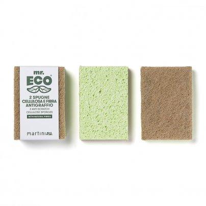 2 Spugne in Cellulosa e Fibra Antigraffio - Mr. Eco