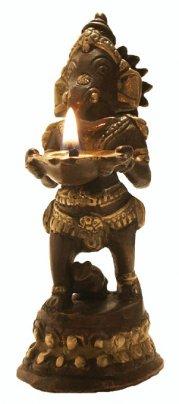 Statua Lampada ad Olio - Ganesh