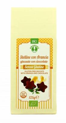 Stelline con Arancia Glassate al Cioccolato