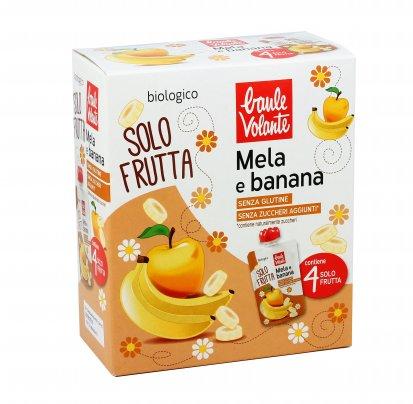 Purea di Mela e Banana Bio - Solo Frutta 4 pezzi doypack (4x100 gr.)