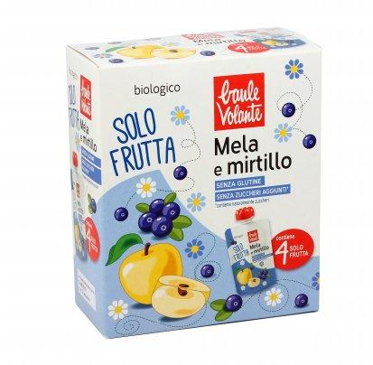 Purea di Mela e Mirtillo Bio - Solo Frutta