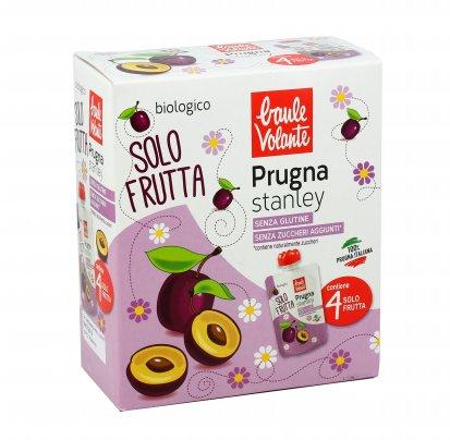 Purea di Prugna Stanley Bio - Solo Frutta 4 pezzi doypack (4x100 gr.)