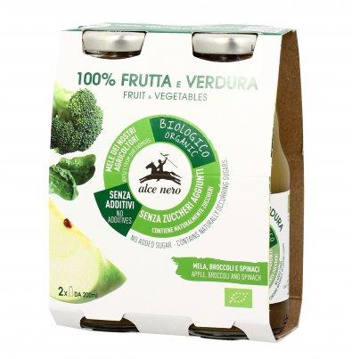 Bevanda Bio 100% Frutta e Verdura con Mela, Broccoli e Spinaci