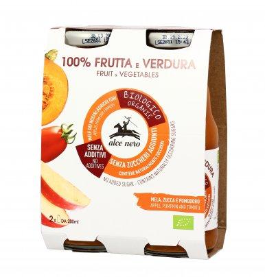 Bevanda Bio 100% Frutta e Verdura con Mela, Zucca e Pomodoro