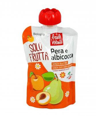 Purea con Pera e Albicocca Bio - Solo Frutta 100 gr. Monouso