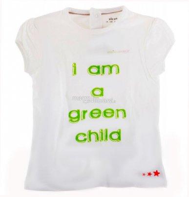 """T-shirt Bimbo - """"I am a Green Child"""""""