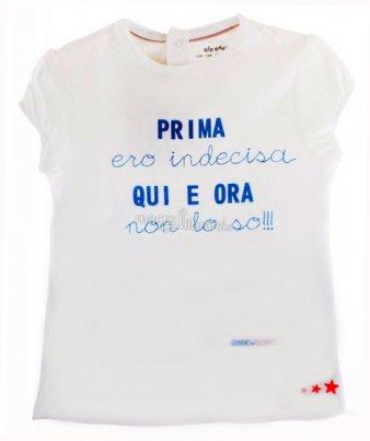 """T-shirt Bimbo - """"Prima ero Indecisa Qui e Ora non lo So!!"""""""