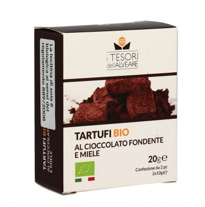 Tartufi Bio al Cioccolato Fondente e Miele