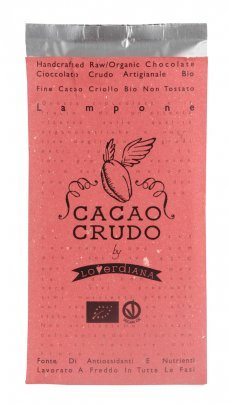 Tavoletta di Cioccolato Crudo Lampone