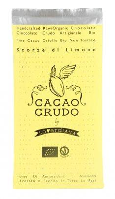 Tavoletta di Cioccolato Crudo Scorze di Limone