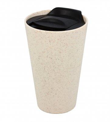 Bio Tazza Mug con Tappo in Plastica Bianco