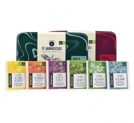 Tè Aromatizzati Biologici - Cofanetto Latta