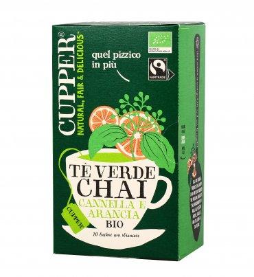 Tè Verde Chai Bio - Cannella e Arancia
