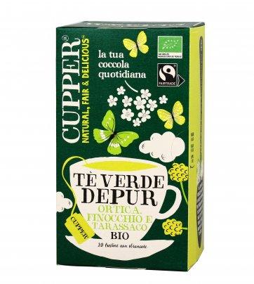 """Tè Verde """"Depur"""" con Ortica, Finocchio e Tarassaco Bio"""