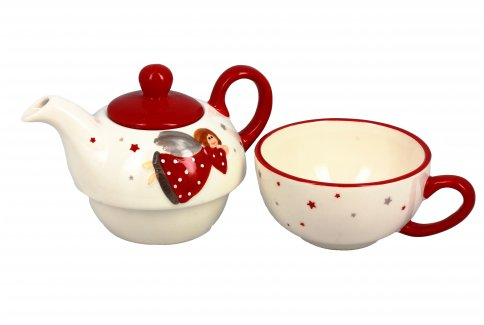 "Teiera con Tazza ""Tea For One Angeli"""