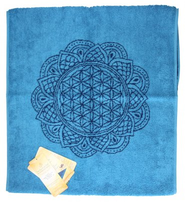 "Asciugamano Blu ""Happy Flower Of Life"""