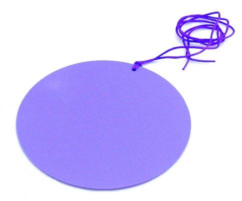 Piastra di Tesla Purpurea Tonda a Disco 10 cm