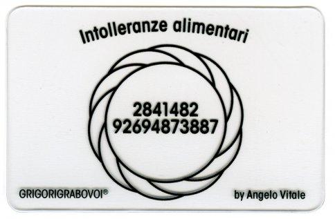 Tessera Radionica 29 - Intolleranze Alimentari