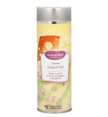 """Tisana """"Gioia di Vita"""" con Ibisco, Lemongrass e Mandarino 80 g (Confezione Latta)"""