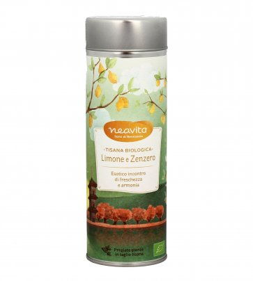 Tisana Biologica Limone e Zenzero 80 g (Confezione Latta)