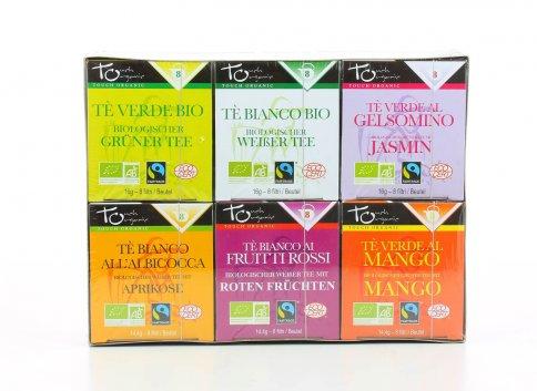 Confezione 6 Astucci di Tè Assortiti Bio