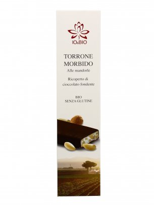 Torrone Morbido alle Mandorle Ricoperto di Cioccolato Fondente