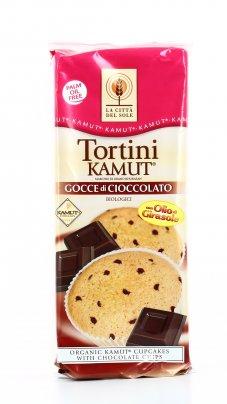 Tortine KAMUT® - grano khorasan con Gocce di Cioccolato Bio