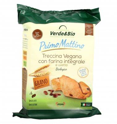 Brioche Treccina Vegana con Farina Integrale di Grano Tenero e Uvetta