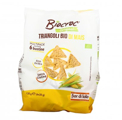 Gallette Triangoli Bio Mais - Biocroc (Multipack)