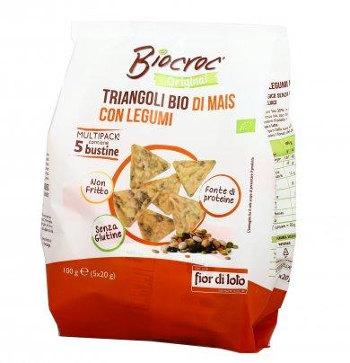 Gallette Triangoli Bio Mais con Legumi - Biocroc (Multipack)