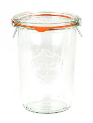 Vasetto In Vetro - Weck Dritto 850 ml con coperchio 100 mm