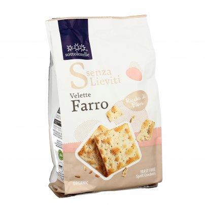 """Crackers di Farro Bio """"Velette"""" - Senza Lieviti"""